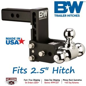 Ts20048b B W 5 Drop Tow Stow Adjustable Ball Mount For 2 5 Receiver Hitch