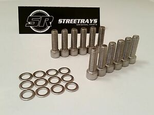 Sr Sbc 3 8 Stainless Steel Bolt Set For Aluminum Intake Manifold 1 1 4 Inch