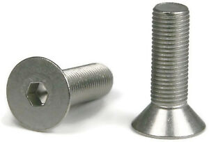 1 4 28 Flat Head Socket Cap Screws Allen Bolts Stainless Steel Screws Qty 100