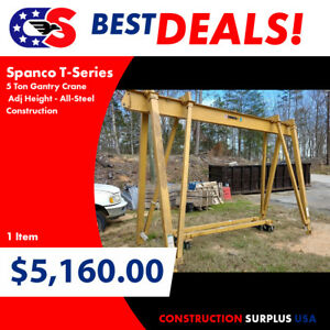 Spanco T series 5 Ton Gantry Crane Adj Height All steel Construction