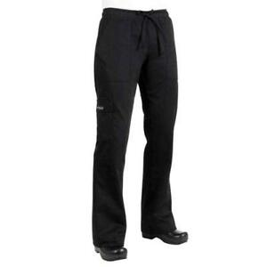 Chef Works Cpwo blk xs Women s Black Cargo Chef Pants xs