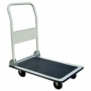 Pro Series Heavy Duty 330 Lb Capacity Folding Platform Truck Warehouse Cart