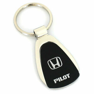 Honda Pilot Black Tear Drop Metal Key Ring
