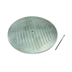 14 Round Ball Milled Polished Aluminum Air Cleaner Lid Only Hot Rod Rat Rod V8
