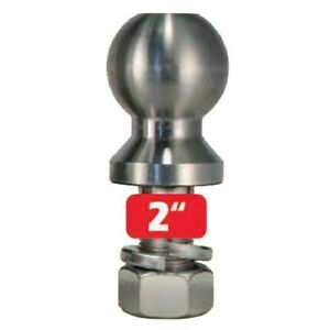 Trimax 2 Stainless Steel Trailer Hitch Tow Ball 1 Shank X 2 5 Receiver 8k Lbs
