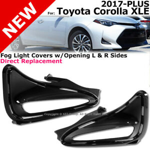 Drl Fog Light Covers Right Left 2017 2019 Corolla Xle Hole Cover Black Combo