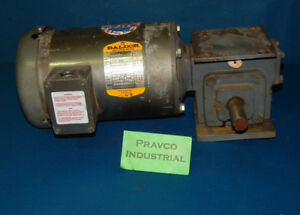 Baldor Vm3546 3 Phase Motor With Winsmith 920mwu Gearbox 1 shaft 1 4 25 key