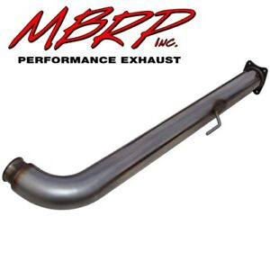 Mbrp 01 05 Gm Duramax Lb7 Lly Front Cat Delete Pipe Flanged 4 Stainless Steel