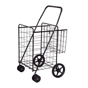 Jumbo Basket For Grocery Laundry Travel W Swivel Wheels Sturdy N Durable