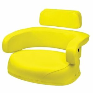 Seat 3 piece Set Vinyl Yellow John Deere 4240 7700 3020 4230 4000 4430 4020