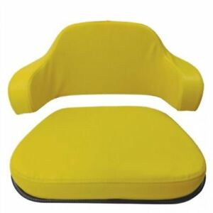 Seat Cushion Set 2 Piece Steel Back Vinyl Yellow John Deere 4230 4020 7700