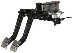 Wilwood Forward Swing Brake Clutch Pedal Set With Master Cylinders 6 25 Pedals