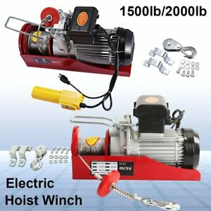 1500lb 2200lb Electric Overhead Motor Lift Hoist Garage Winch Crane W Remote