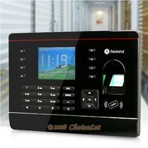 Biometric Fingerprint Attendance Time Clock rfid Card Reader tcp ip usb