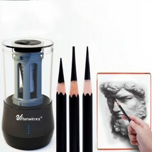 Automatic 2 hole Electric Pencil Sharpener Heavy duty Helical Blade Smart Stop