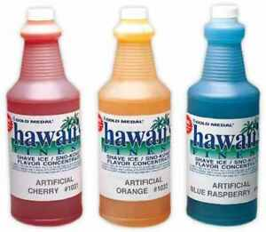 2 Quarts Flavors Snow Sno Cone Shave Ice Concentrate Syrup Mix Makes 16 Gallons