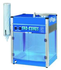 Commercial Retro Blizzard Icee Sno Snow Cone Machine Maker Ice Shaver Concession
