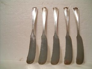 5 Pcs Vtg 1847 Rogers Bros Meriden Xs Silverplated Butter Knives Initial D