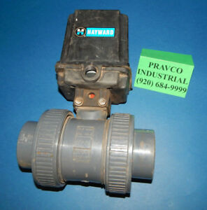 Hayward Ea2 Electric Actuator With True Union Ball Valve 2 Pvc