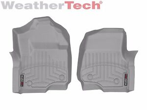 Weathertech Floor Mats Floorliner For Ford Super Duty 2017 2020 1st Row Grey
