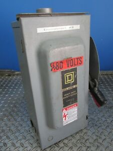 60 Amp Square D Heavy Duty Safety Disconnect Switch 600 Vac dc e 00