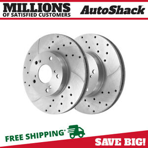 Front Drilled Slotted Performance Rotors Pair 2 For 98 2012 Honda Accord 96711