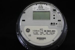 3 Phase General Electric ge Itron Watthour Meter kwh Model I 210 n Cl200a
