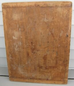 Antique Wooden Bread Board W Baker End Handles Country Find