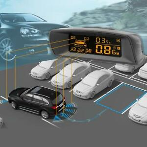 Lcd Car Parking Sensor Rear Reverse Backup Radar System W 8 Sensors Alarm Kit