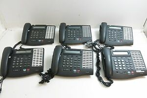 Lot Of 6 Vodavi 3017 71 Telephones 30 Button Executive With Display Full Duplex