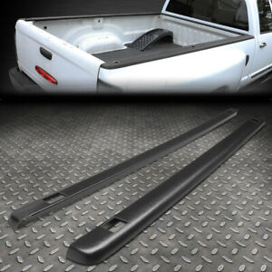 For 99 07 Silverado sierra 6 5ft Bed Satin Black Truck Rail Caps Molding W holes