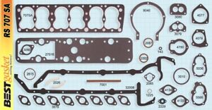 New 1936 48 Lincoln V 12 Flathead Engine Gasket Set Best Brand Rs707sa