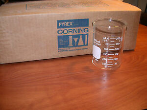1 Case Of 12 Pyrex 400ml Griffin Low Form Beakers New Unused
