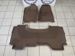 Dodge Ram 1500 Dt All Weather Slush Mat Brown Quad Cab Rubber Mats New Oem Mopar