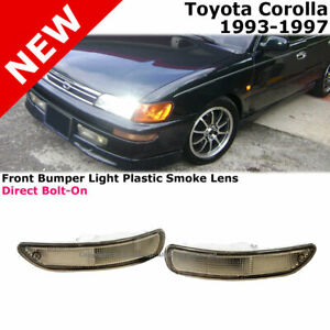 Toyota Corolla E100 93 97 Front Bumper Signal Light Lamp Smoked Lens