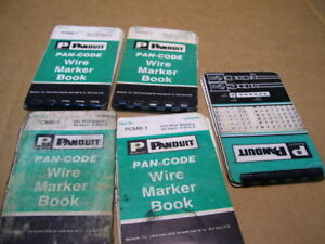 Lot 5pcs Panduit 3 Pcmb 1 2 pcmb 2 Wire Marking Kits P2011