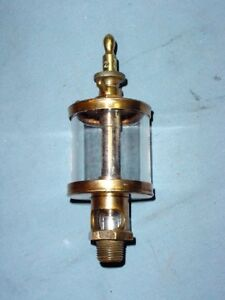 Powell Signal 2 Hit Miss Gas Steam Engine Brass Oiler