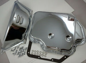 Chrome Chevy Th400 Th 400 Turbo 400 Transmission Pan Flex Plate Cover Kit V 8