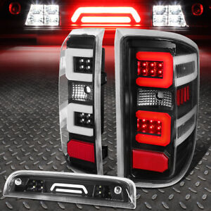For 14 17 Silverado Sierra Led C Bar Tail Light 3d Third Brake Cargo Lamp Black