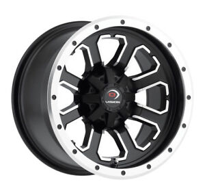 14 Inch 14x7 Vision 548 Commander Black Machined Wheel Rim 4x115 10