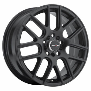 14 Inch 14x5 5 Vision 426 Cross Matte Black Wheel Rim 4x4 5 4x114 3 38