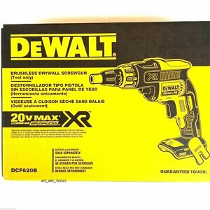 Dewalt Dcf620b 20 Volt Max Xr Li Ion Brushless Drywall Screwgun Tool Only