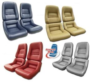 1979 1982 Corvette Leather Vinyl Seat Covers Mounted On New Foam
