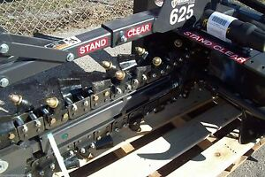 Bradco 625 Skid Steer Trencher 36 depth 6 Width 50 50 Rock frost Teeth In Stock