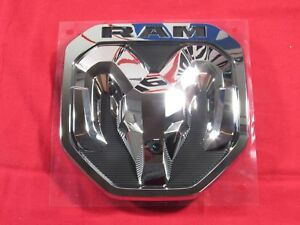 2019 Dodge Ram Chrome Tailgate Ram s Head Emblem Medallion New Oem Mopar