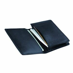 Royce Top grain Nappa Leather Executive Business Card Case Blue