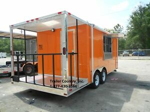 New 8 5x20 8 5 X 20 Enclosed Concession Food Vending Bbq Trailer