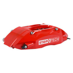Disc Brake Pad Caliper And Rotor Kit red Caliper Drilled Coated Rotor Front