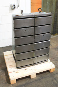 36 H 12 W Cincinnati milacron set Of 2 12x36x18 Angle Plates T slotted Cas