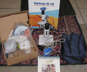 Digiscope Ds150 Zoom Microscope With Digital Camera Original Software